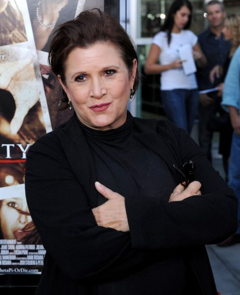 Actress Carrie Fisher attends the premiere of the motion picture horror thriller Sorority Row, at the ArcLight Cinerama Dome in the Hollywood section of Los Angeles on September 3, 2009. UPI/Jim Ruymen