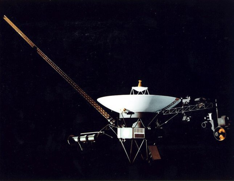 This drawing from NASA represents Voyagers 1 and 2, both launched in 1977. (UPI/NASA)