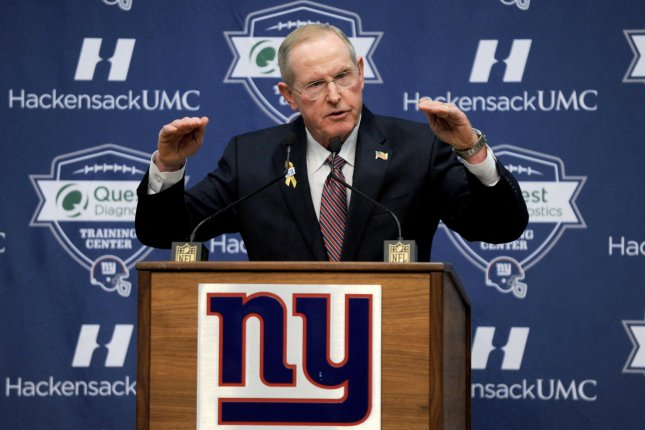 New York Giants head coach Tom Coughlin speaks at his farewell press conference at MetLife Stadium in East Rutherford, New Jersey on January 5, 2016. Coughlin steps down as head coach of the Giants after 12 seasons and 2 Super Bowl wins. Photo by Dennis Van Tine/UPI
