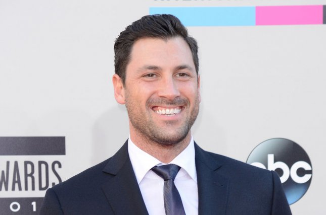 Maksim Chmerkovskiy at the American Music Awards on November 24, 2013. The dancer will return to Dancing with the Stars for Season 23. File Photo by Phil McCarten/UPI