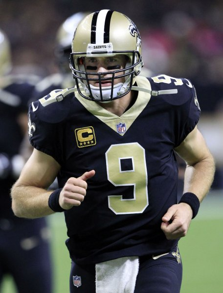 Drew Brees and the New Orleans Saints pay a visit to the Buffalo Bills on Sunday. Photo by AJ Sisco/UPI