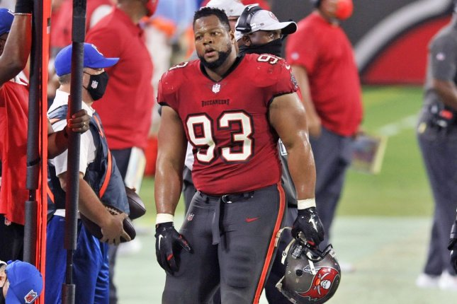 Veteran defensive tackle Ndamukong Suh agreed to a one-year contract Wednesday with the Tampa Bay Buccaneers. File Photo by Steve Nesius/UPI