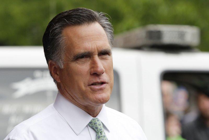 Presumptive U.S. Republican presidential nominee Mitt Romney in New York, May 1, 2012. UPI/John Angelillo