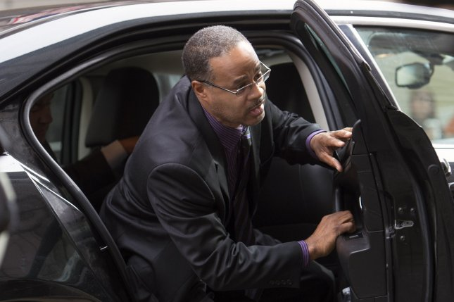 Baltimore police officer Caesar Goodson arrives for the final day of his trial in his involvement in the Freddie Gray arrest and death, in Baltimore on Thursday. Goodson was the officer who drove the transport van where Gray suffered his fatal spinal injury and later died on April 19, 2015. Photo by Kevin Dietsch/UPI