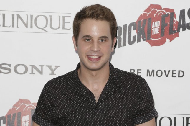 Ben Platt arrives on the red carpet at the premiere of Ricki and the Flash in New York City on August 3, 2015. Platt is going to Sunday's Tony Awards show as a nominee for Best Actor in a Musical for Dear Evan Hansen. File Photo by John Angelillo/UPI