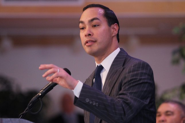 Julian Castro, shown here in 2016 as secretary of Housing and Urban Development, is running for president with a plan to overhaul policing. File Photo by Bill Greenblatt/UPI