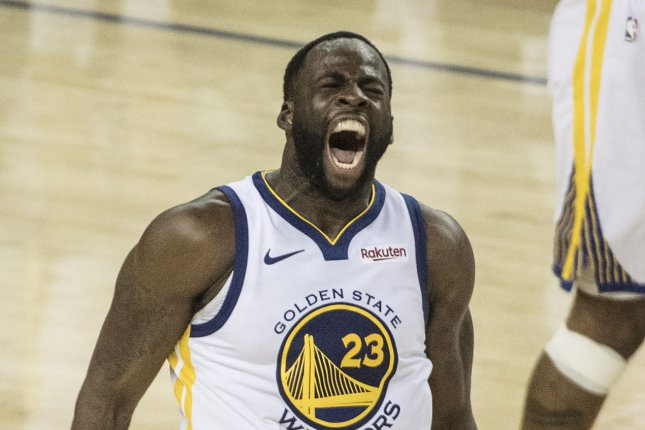 Golden State Warriors forward Draymond Green agreed to a four-year, $100 million max contract extension with the Warriors on Saturday. File Photo by Terry Schmitt/UPI