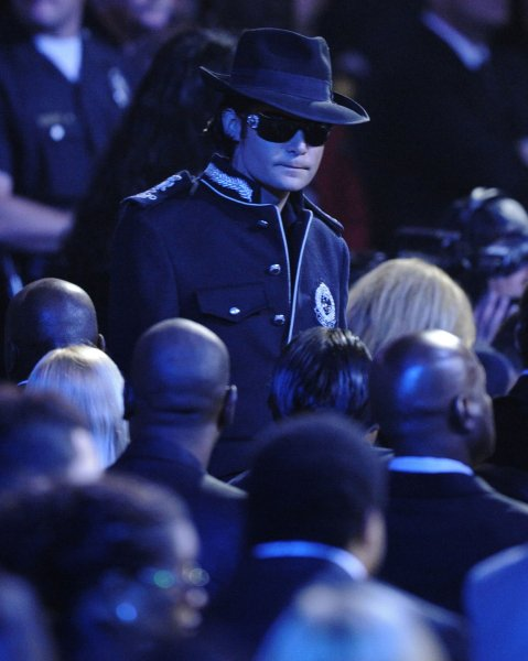 Actor Corey Feldman arrives to the memorial service for Michael Jackson at Staples Center in Los Angeles on July 7, 2009. The King of Pop died in Los Angeles on June 25 at age 50. (UPI Photo Photo/Mark J. Terrill/Pool)