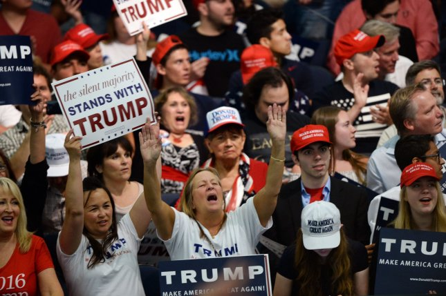 Fascism brings a masculinist, xenophobic nationalism that claims to put the people first while turning them against one another. File Photo by Jim Ruymen/UPI