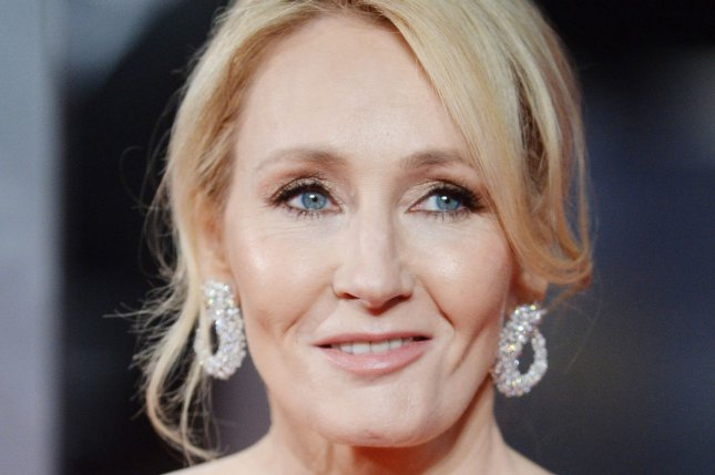 English author J. K. Rowling attends the 70th EE British Academy Film Awards in London on February 12. The play Harry Potter and the Cursed Child -- which is based on characters she created -- is to open on Broadway April 22. File Photo by Paul Treadway/ UPI