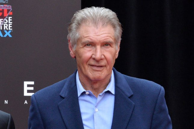 Harrison Ford attends Ridley Scott's TCL Chinese Theatre hand and footprint ceremony on May 17. File Photo by Jim Ruymen/UPI