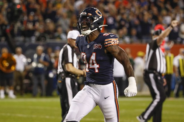 Former Chicago Bears outside linebacker Leonard Floyd became a free agent after the team released him Tuesday. File Photo by Kamil Krzaczynski/UPI