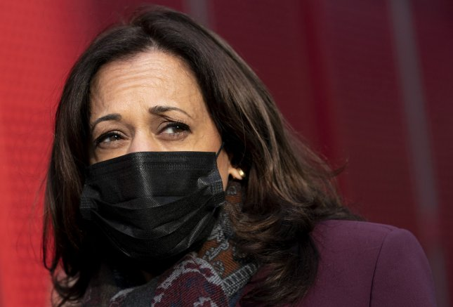 Vice President-elect Kamala Harris is February's Vogue cover star. File Photo by Kevin Dietsch/UPI