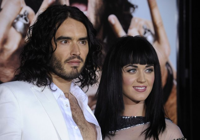 Cast member Russell Brand (L) and Katy Perry attend the premiere of the film Get Him to the Greek at the Greek Theatre in Los Angeles on May 25, 2010. UPI Photo/ Phil McCarten