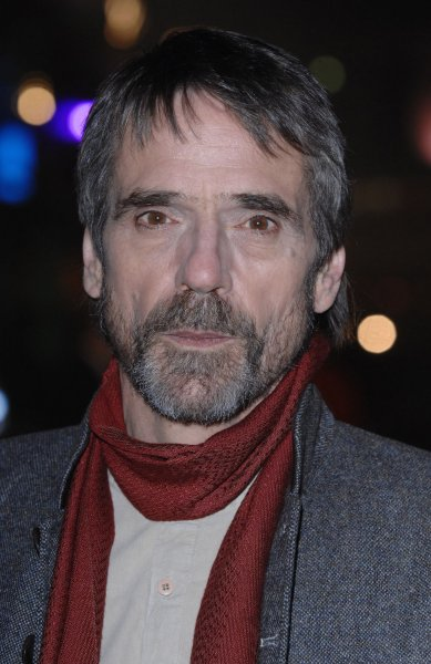 British actor Jeremy Irons attends the World premiere of Eragon at Odeon, Leicester Square in London on December 11, 2006. (UPI Photo/Rune Hellestad)