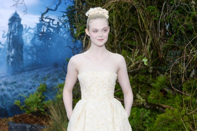 American actress Elle Fanning attends the screening of Maleficent at the Kensington Palace in London on May 8, 2014. UPI/ Rune Hellestad