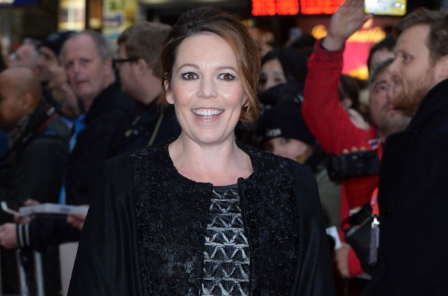 English actress Olivia Colman attends a screening for The Lobster during the 59th BFI London Film Festival at Vue West End in London on October 13, 2015. Photo by Paul Treadway/ UPI