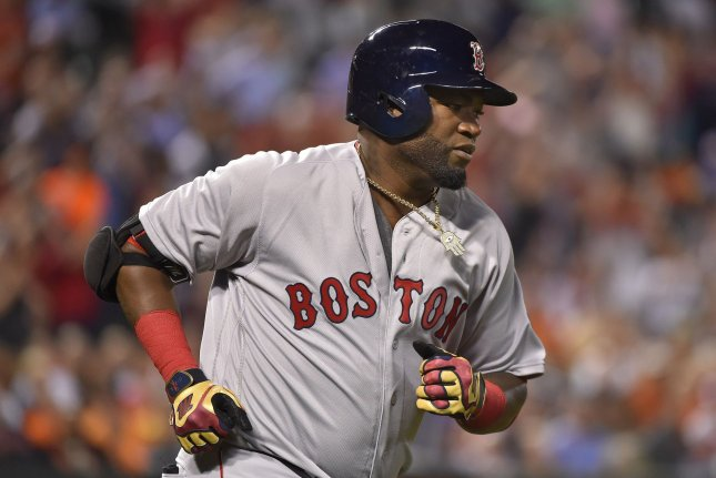 Former Boston Red Sox designated hitter David Ortiz runs the bases after a 2-RBI home run against the Baltimore Orioles at Camden Yards in Baltimore, Md. File photo by David Tulis/UPI