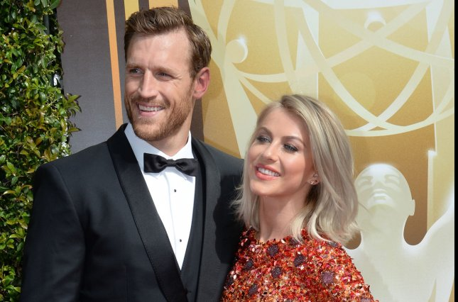 Brooks Laich (L) and Julianne Hough have announced they are ending their marriage. File Photo by Jim Ruymen/UPI