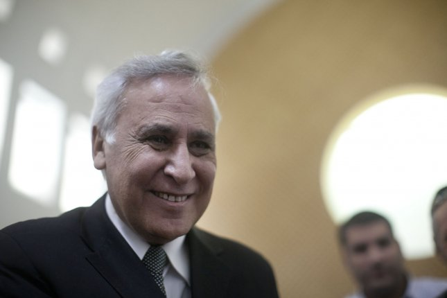 Shortly before entering prison to serve a seven-year sentence on rape charges, former Israeli President Moshe Katsav said he was being buried ... alive. UPI/Uriel Sinai/Pool