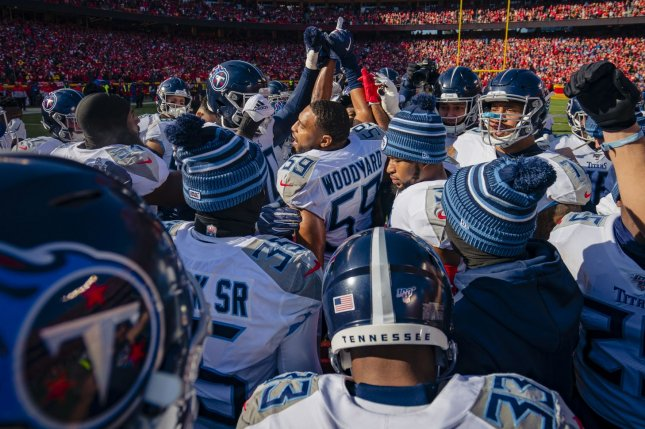 The Tennessee Titans had three players and five personnel members test positive for COVID-19 after their Week 3 game against the Minnesota Vikings on Sunday in Minneapolis. File Photo by Kyle Rivas/UPI