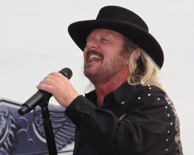 Donnie VanZant of 38 Special performs before the running of the NASCAR Sprint Cup SYLVANIA 300 Race at New Hampshire Motor Speedway in Loudon, New Hampshire on September 19, 2010 . UPI/Malcolm Hope