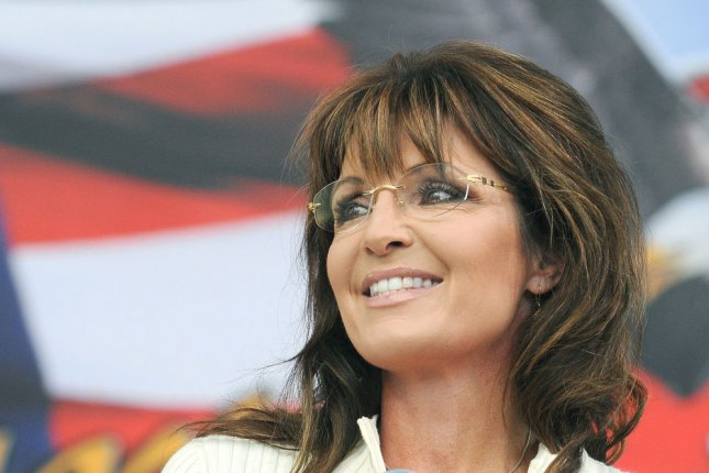 Sarah Palin used Facebook as a platform to complain about Fox News canceling her appearance Wednesday at the Republican National Convention. 2011 file photo. UPI/Steve Pope