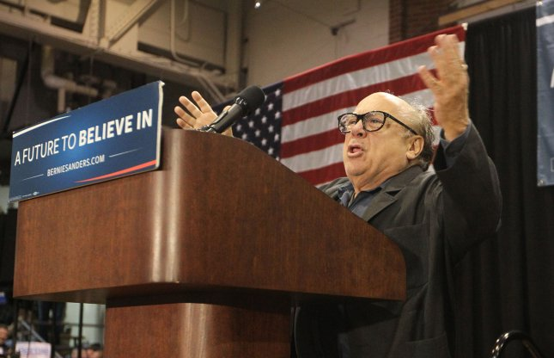 Danny Devito Stumps For Democrat Presidential Candidate Bernie
