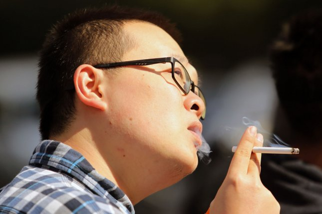 Researchers have found smokers have a decreased levels of a certain cell implicated in autoimmune disorders like multiple sclerosis. Photo by Stephen Shaver/UPI