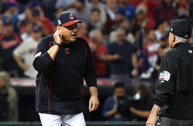 Cleveland Indians manager Terry Francona is recovering following a heart procedure. Photo by Pat Benic/UPI