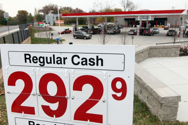 The national average price for gas hasn't broke through the $3 mark yet, but prices are still sharply higher from last year. File Photo by Bill Greenblatt/UPI