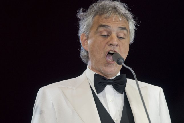 Andrea Bocelli's Si is No. 1 on the Billboard 200. File Photo by Gary I Rothstein /UPI