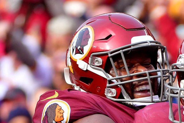 Former Washington Redskins guard Jonathan Cooper was a first-round pick in 2013. File Photo by Kevin Dietsch/UPI