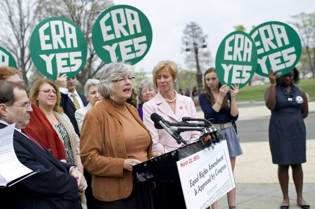 Rep. Lynn Woolsey (D-CA) speaks at a rally marking the 40th anniversary of congressional passage of the Equal Rights Amendment (ERA) on Capitol Hill in Washington, D.C. on March 22, 2012. UPI/Kevin Dietsch