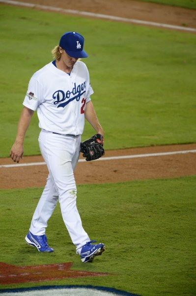 Los Angeles Dodgers starting pitcher Zack Greinke leaves the Dodgers. Photo by Jim Ruyman