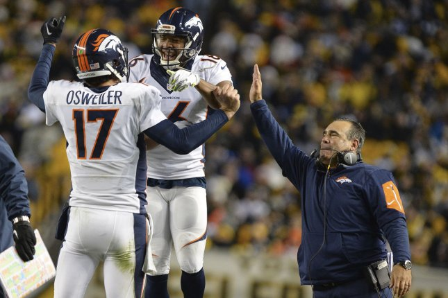 Although defenses know the Texans plan to run the football considering that quarterback Brock Osweiler (17) has thrown 14 interceptions and has just 14 touchdown passes, they still haven't been able to stop them. File Photo by Shelley Lipton/UPI