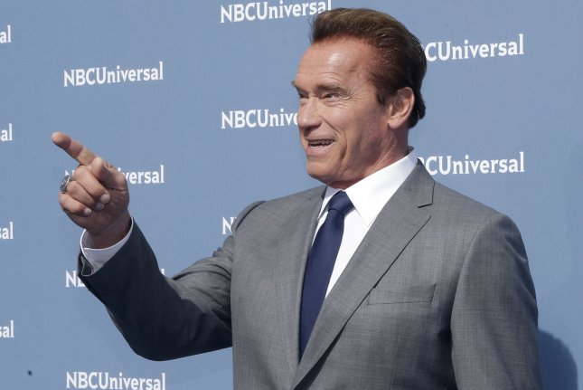 Former California Gov. Arnold Schwarzenegger on Friday announced the launch of an environmental project, intended as a response to President Donald Trump's policies. File Photo by John Angelillo/UPI