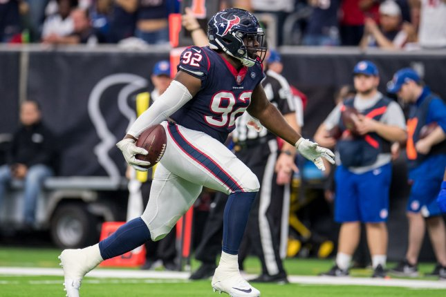 Houston Texans nose tackle Brandon Dunn was set to become an unrestricted free agent this off-season. File Photo by Trask Smith/UPI