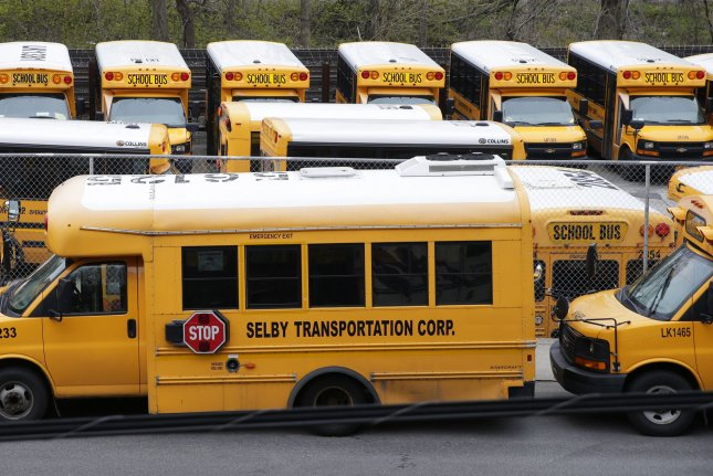 The mandate, the first in New York City for any group of workers, applies to more than 150,000 employees. By Monday, about 72,000 of the city's 78,000 teachers had met the requirement.File Photo by John Angelillo/UPI