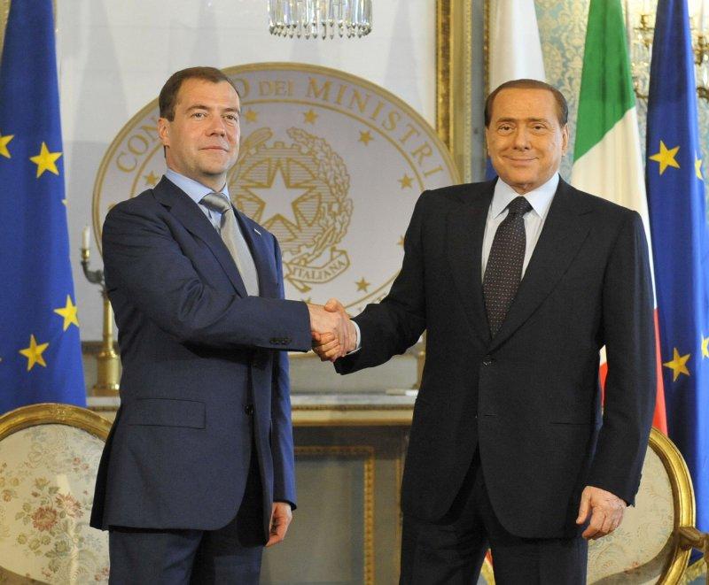 Former Italian Prime Minister Silvio Berlusconi, whose ally Nicola Consentino has been arrested on suspicion of lobbying Unicredit. UPI Photo/Alex Volgin..