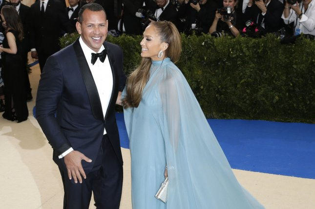 Alex Rodriguez and Jennifer Lopez arrive on the red carpet at the Costume Institute Benefit on May 1 at The Metropolitan Museum of Art celebrating the opening of Rei Kawakubo/Comme des Garcons: Art of the In-Between in New York City. File photo by John Angelillo/UPI