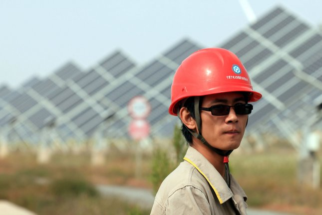 Most of the jobs in the renewable energy industry are found in the Asian economies, an international report found. File Photo by Stephen Shaver/UPI