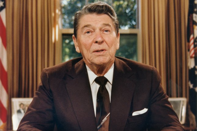 On March 8, 1983, President Ronald Reagan referred to the Soviet Union as an evil empire in a speech before the British House of Commons. File Photo by Tim Clary/UPI