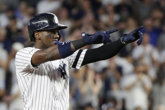 Former New York Yankees outfielder Cameron Maybin played for the Detroit Tigers in 2007 and 2016. File Photo by John Angelillo/UPI