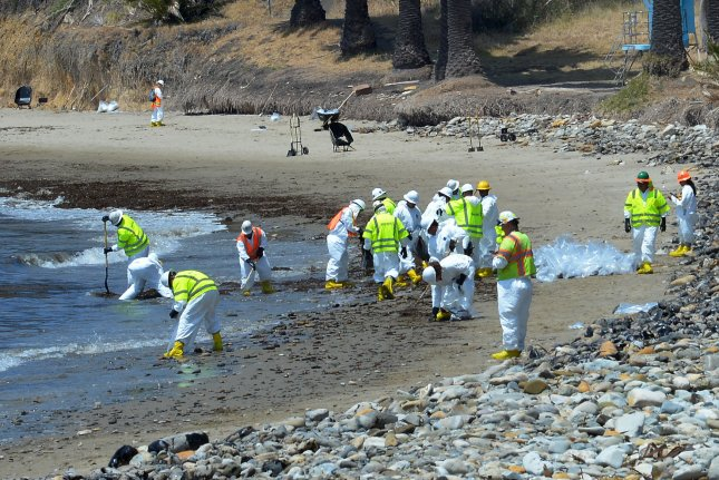 Lab reports reveal extent of migration of oil spilled from a May pipeline breach in Santa Barbara, Calif., pipeline operations Plains All American says. Photo by Jim Ruymen/UPI
