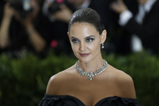 Katie Holmes attends the Costume Institute Benefit at the Metropolitan Museum of Art on May 1. The actress shared new photos with daughter Suri on Mother's Day. File Photo by John Angelillo/UPI