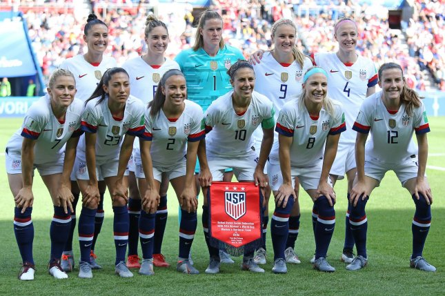 Twenty-eight U.S. Women's National Team players are plaintiffs in a gender discrimination lawsuit against the United States Soccer Federation. Photo by David Silpa/UPI
