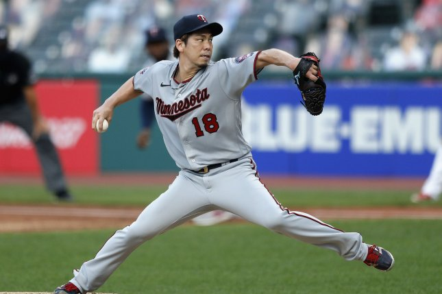 Minnesota Twins starting pitcher Kenta Maeda, shown Aug. 24, 2020, was initially placed on the 10-day injured list Aug. 24 with right forearm tightness. File Photo by Aaron Josefczyk/UPI