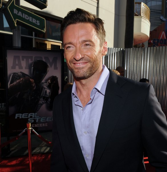 Australian actor Hugh Jackman, a cast member in the motion picture sci-fi drama Real Steel, attends the premiere of the film at the Gibson Amphitheatre in Universal City, California on October 2, 2011. UPI/Jim Ruymen