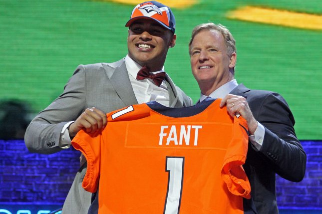 Former Iowa tight end Noah Fant will be one of the first rookies to report to training camp this year when the Denver Broncos head to Englewood, Colo., on July 17. File Photo by John Sommers II/UPI